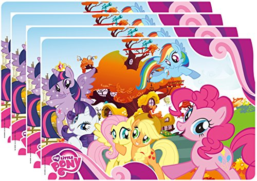 Zak! Designs Placemat with My Little Pony Graphics, Set of 4, BPA-free Plastic
