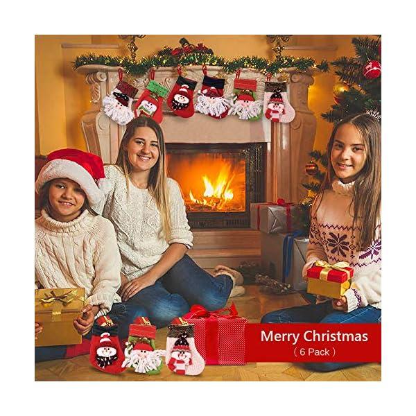MMTX Calze di Natale Decorazioni Calzini Decor per Camino Set 6 Decorazioni Natalizie Camino da Appendere Candy Sacchetti Regalo per Albero di Natale Festa di Natale Decorazioni 4 spesavip