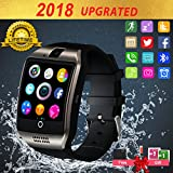 Smart Watch for Android Phones, Bluetooth Smartwatch Touchscreen with Camera, Smart Watches Waterproof Smart Wrist Watch Phone compatible Android Samsung IOS iphone X 8 7 6 6S 5 (Black Q18)