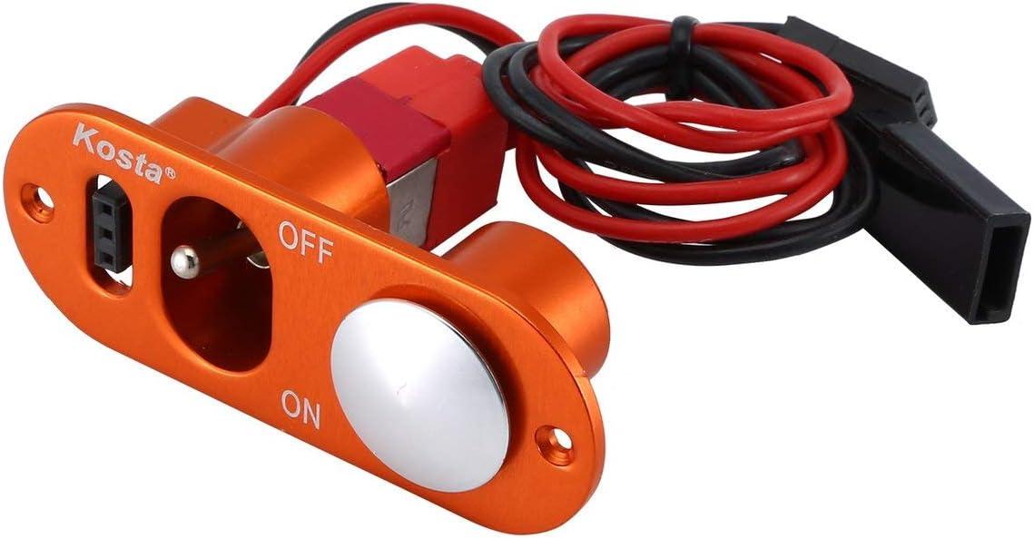 MXECO Interruptor de Encendido y Apagado Simple de Servicio Pesado pequeño con Punto de Combustible para vehículos con Motor de avión RC y Juguetes de Control Remoto (Naranja)