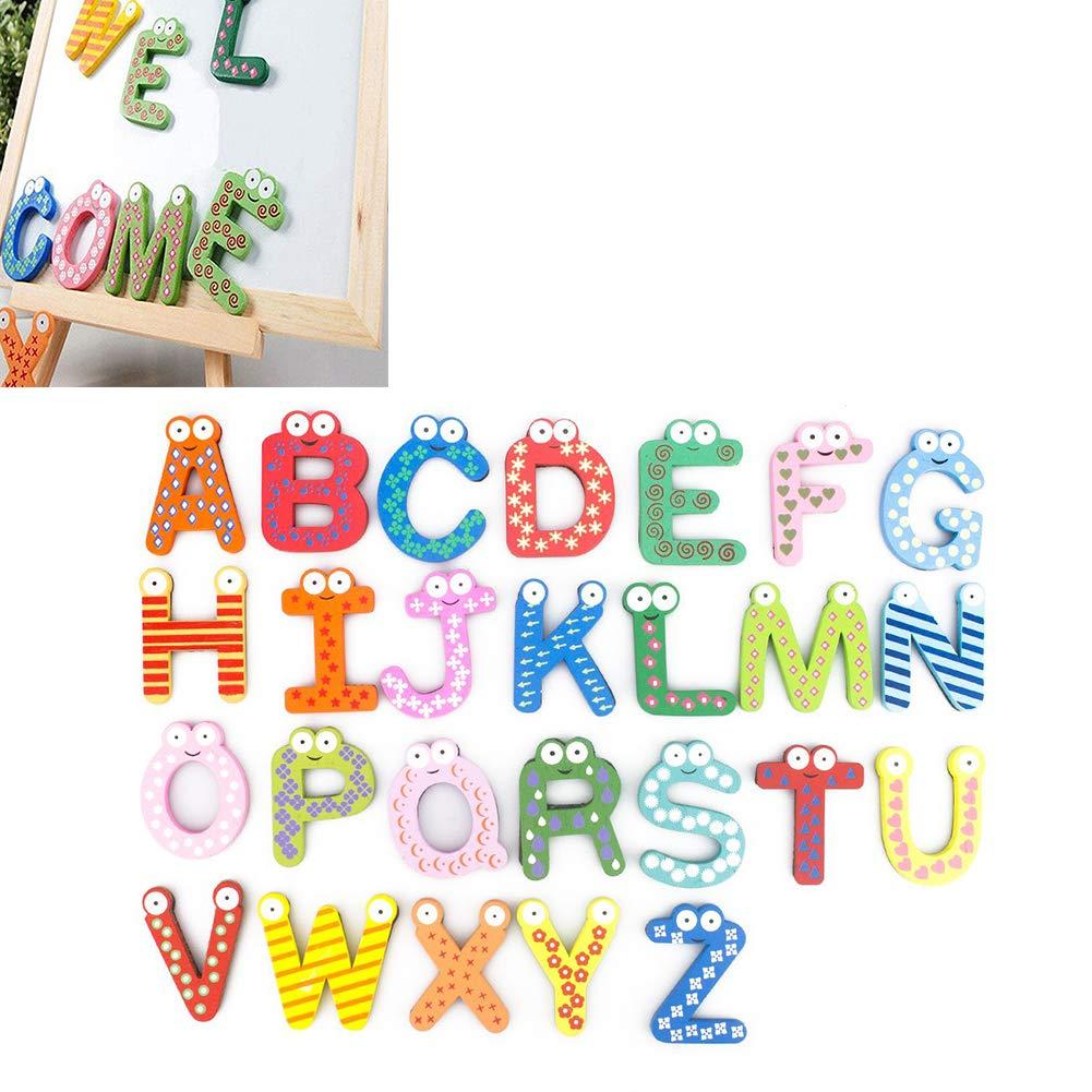 26 piezas del alfabeto A-Z imanes de nevera Pegatinas de madera ...