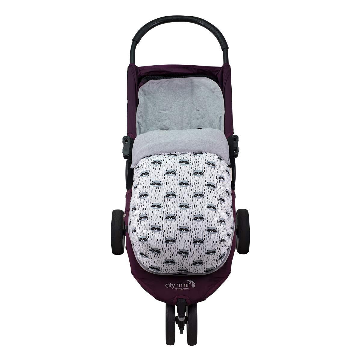 Janabebé Footmuff Baby Sack Jogger City Mini Pushchairs (Raccoon, Cotton)