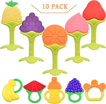 Infantino Good Bites Textured Carrot Teether Baby Teeth Pain-Free Fast Shipping