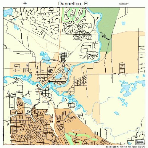 Amazon.com: Large Street & Road Map of Dunnellon, Florida FL ... on