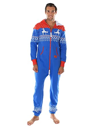 Amazon.com: Ugly Christmas Sweater Party - Fair Isle Blue and Red ...