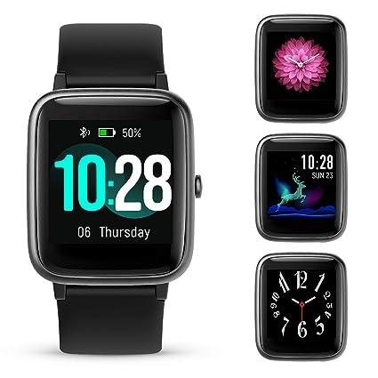 GOKOO Smartwatch Fitness Reloj de Pulsera Mujer Hombre Actividad Tracker Completa Pantalla táctil IP68 Resistente al Agua Reloj Deportivo con ...