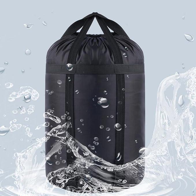 Bolsa de nailon impermeable tipo saco para deportes, para guardar artículos de forma compacta, bolsa para actividades al aire libre, acampada, ...