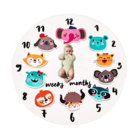 23a9506c8 Buy Baby Monthly Milestone Blanket Soft Age Infant Photo Props Cute ...