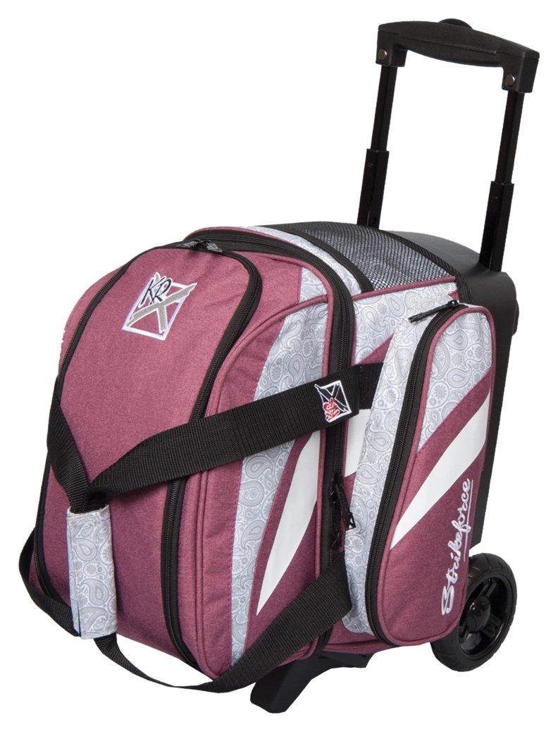 KR Strikeforce Cruiser Smooth Single Roller Bag, Scarlet/Paisley