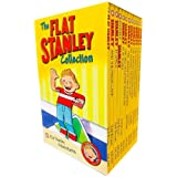 The Flat Stanley Adventures Series Collection 12 Book Box Set by Jeff Brown (Magic Lamp, In Space, Invisible, Flat Again, Ama