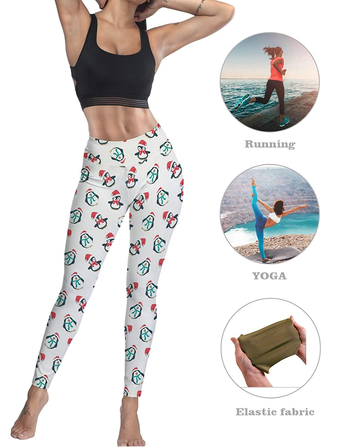 Amazon.com: Leggings para mujer con estampado navideño de ...