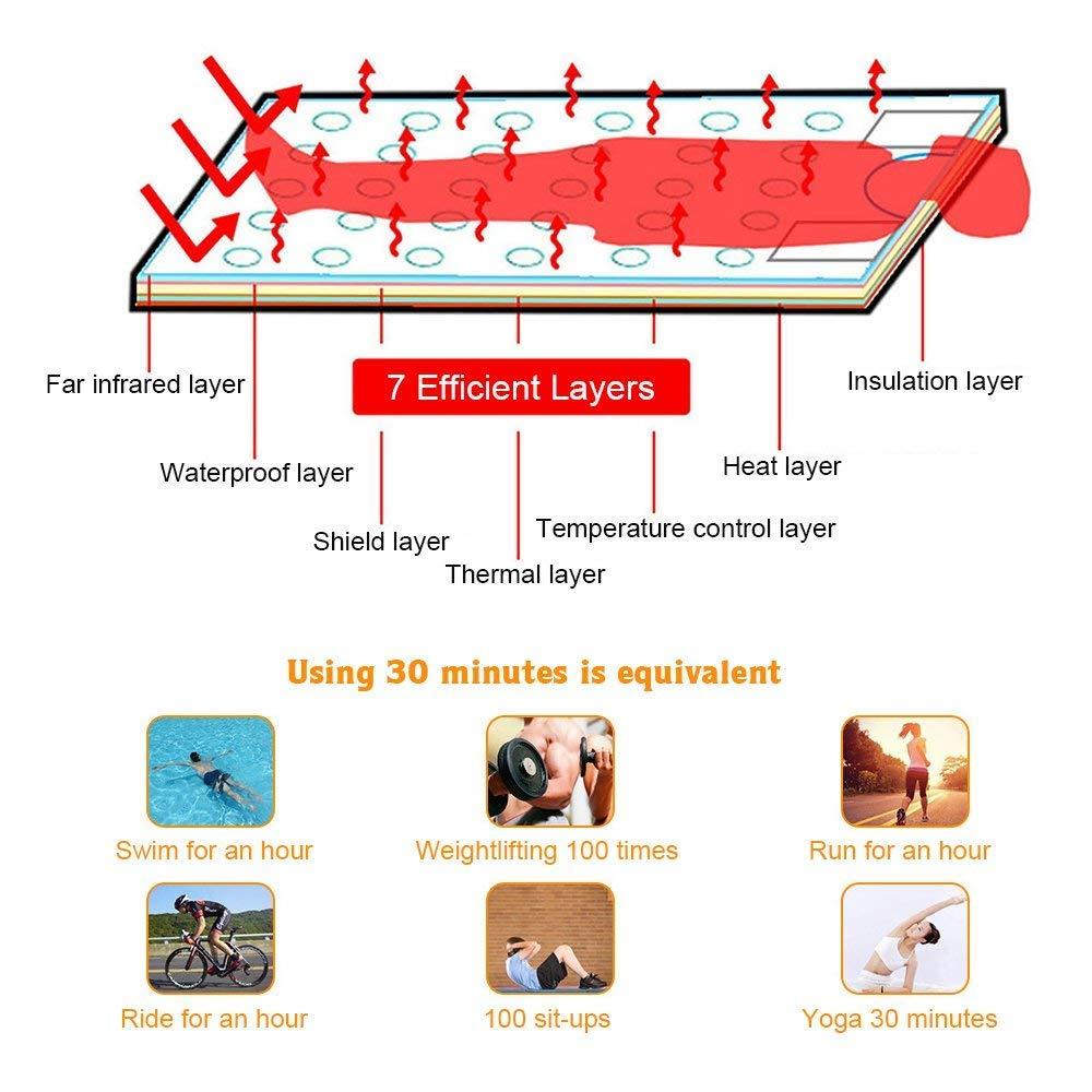 FIR Heat Sauna Blanket Body Shaper Weight Loss HUKOER Digital Far-Infrared