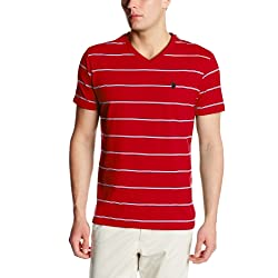 U.S. Polo Assn. Men's Stripe V Neck T-Shirt