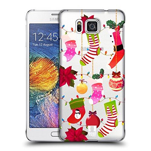 Head Case Designs Socks Christmas Ornaments Hard Back Case for Samsung Galaxy Alpha