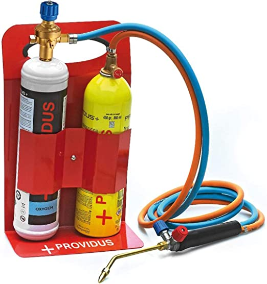 KHWGASEX - Soplete gas semiprofesional, botella de gas GASEX, botella gas oxígeno, incluye gafas de soldadura, listo para soldar