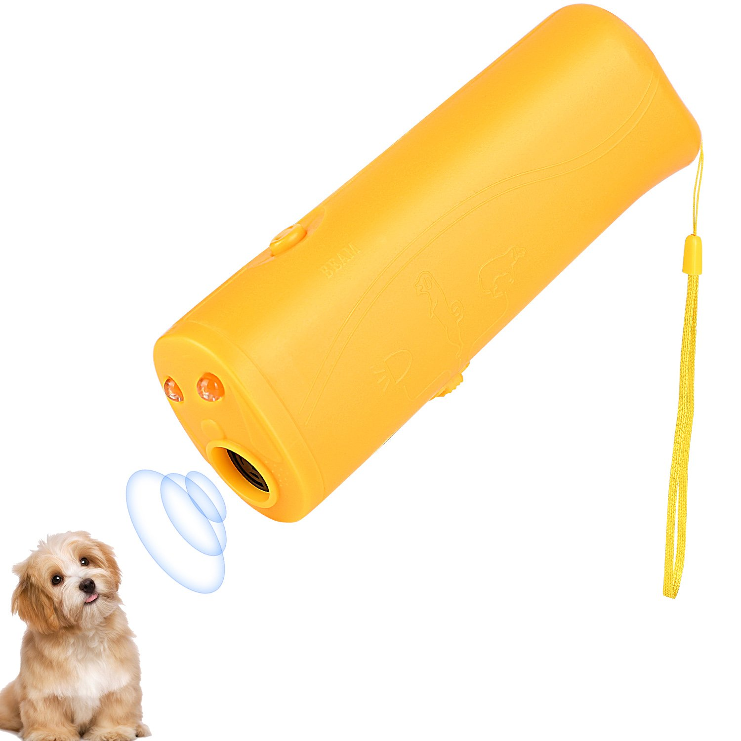 ONSON Ultrasonic Dog Repeller and Trainer Device 3 in 1 LED Pet Anti Barking Stop Bark Handheld (Trainer Device)