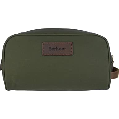 ced27d2e0f12 Image Unavailable. Image not available for. Color  Barbour DryWax  Convertible Washbag - Olive