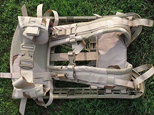 System Shoulder Strap (NEW US Army Military Molle ll GEN 4 Rifleman Desert Tan Camouflage HARNESS Frame Shoulder Straps Waist Belt for Backpack by US Goverment GI)