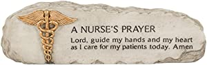"Carson 8"" x 2"" Resin Sentimental Message Stone ""A Nurse's Prayer"""