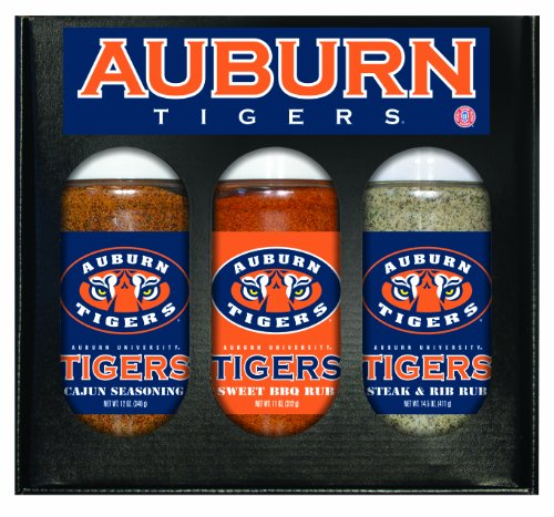 Tigers Ncaa Barbecue Sauce (Auburn Tigers NCAA Boxed Set of 3 (Cajun Seas,Stk/Rib Rub, BBQ Rub))