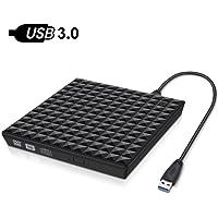 Externes DVD Laufwerk,DIAOCARE USB3.0 Tragbar DVD-RW DVD/CD Brenner Laufwerk,Plug & Play,Hochgeschwindigkeits-Datums Übertragung,für Laptops,Notebook Desktop,Unterstützt Windows XP/10/8/7,Mac OS/Apple
