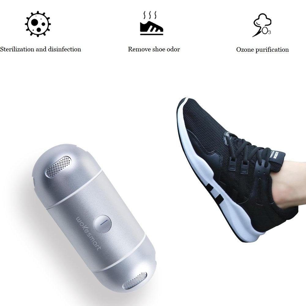 WOKESMART Innovative Smart Mobile APP Control Shoes Sterilizer, Mini Aluminum Capsule Design, Reactive Oxygen Anion Specialized Killing Fungus by WOKESMART (Image #5)