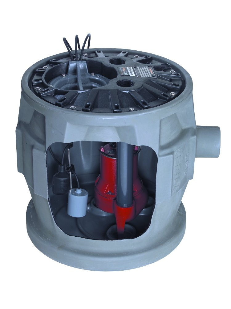 Liberty Pumps P382LES51 1/2-Horse Power 24 by 24-Inch Pro380 Series Simplex Sewage System