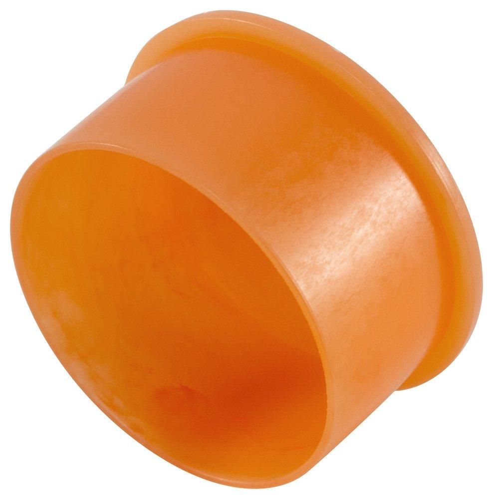 Caplugs QEZ81AH1 Plastic Non-Threaded NPT Cap EZC-8, PE-LD, Cap ID .725'' Length .59'', Orange (Pack of 500)