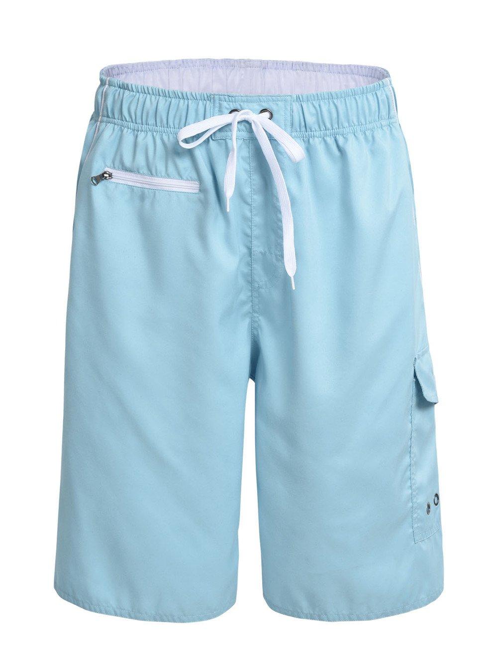 Nonwe Men's Beachwear Swim Trunks Quick Dry Zipper Pockets Lining JF16135