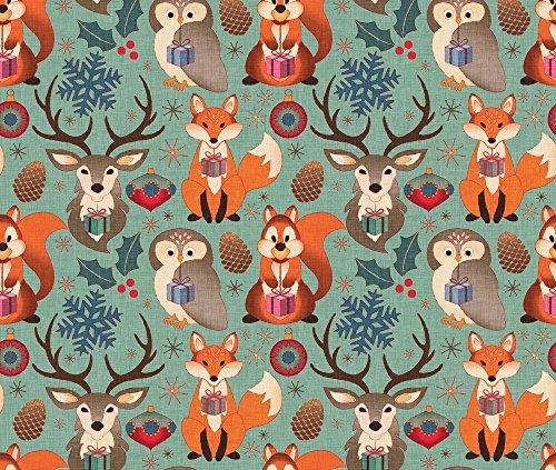 vintage christmas fabric - 4