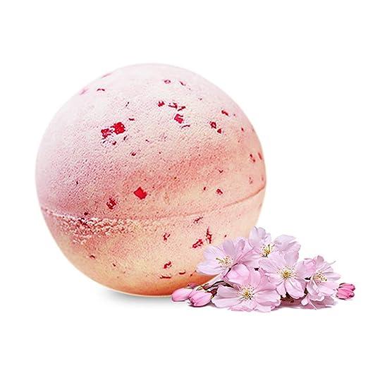 CQ Bombas De Baño Flores De Cerezo Sal De Explosión Bola De Baño Burbuja Bola De Aceite Esencial: Amazon.es: Deportes y aire libre