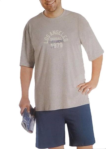 Pijamas de manga larga y de manga corta, tallas grandes, 100% algodón,