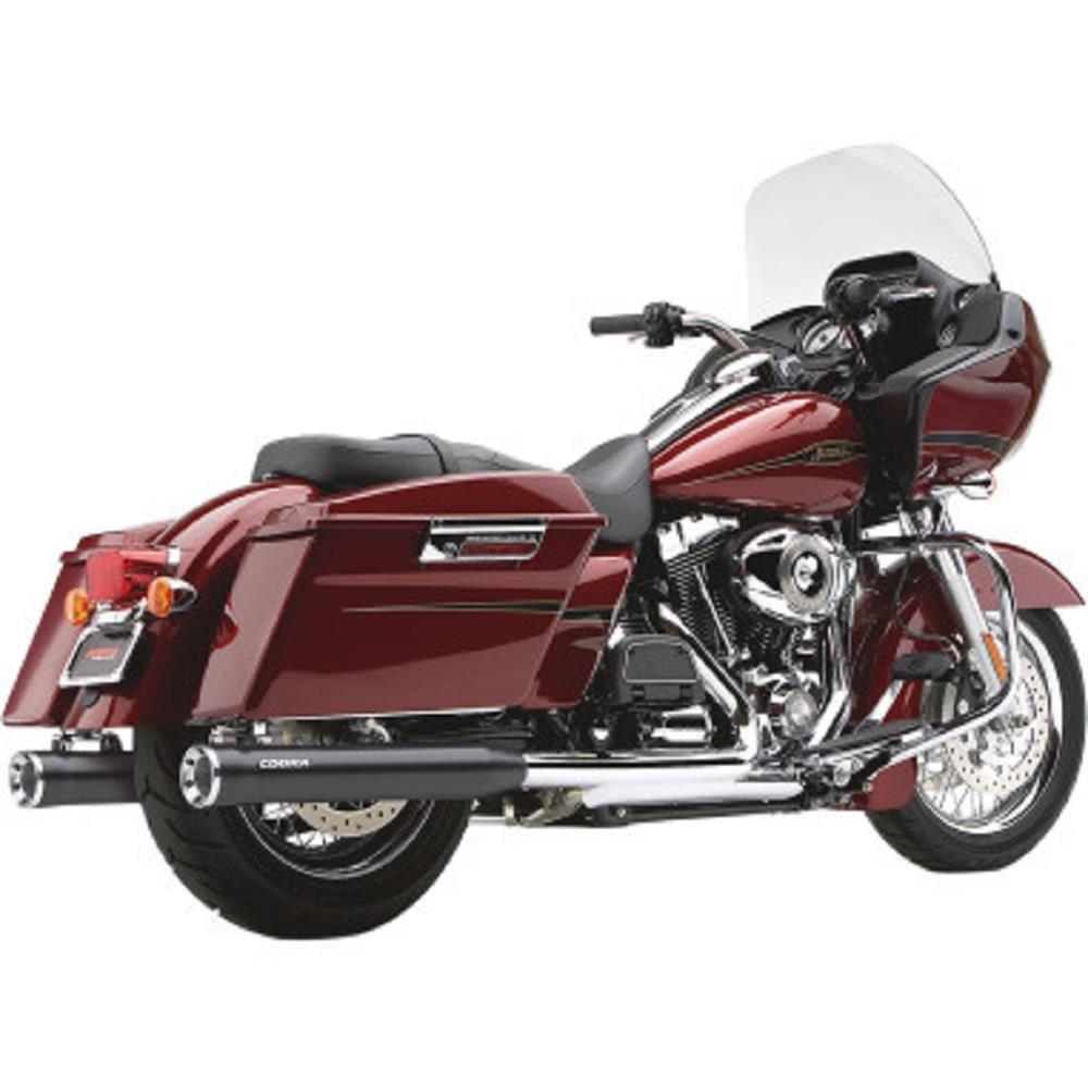 17-19 HARLEY FLHX2 Cobra 909-Twins Slip-On Exhaust Raven Black