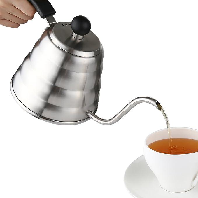 Aicok Cafetera o Tetera con Cuello Fino de Acero Inoxidable de 1,2 Litros