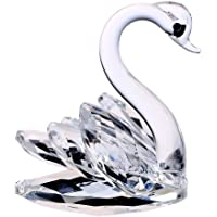 H&D HYALINE & DORA Sparkle Crystal Swan Figurine Collection Paperweight Table Centerpiece Ornament