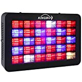 KINGBO 450 Watt Full Spectrum LED Grow Light H-Series LED Plant Grow Lights for Indoors Plant Hydroponics Flower Greenhouse Growing with Daisy Chain