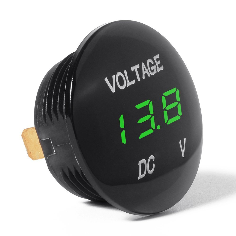 Mini Voltímetro impermeable con Pantalla LED Digital, Voltaje Metro DC 12V-24V Universal Para Coche / Moto / Carro - Verde: Amazon.es: Bricolaje y ...