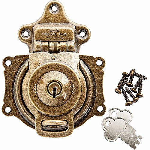 Plated Trunk - Antique Brass Plated Spring Trunk Lock