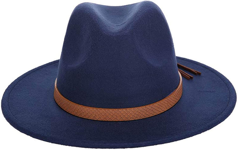 Autumn and Winter Mens Fedora hat Classical Sombrero Hairy Headscarf Imitation Wool Cap,Coffee,59-61CM
