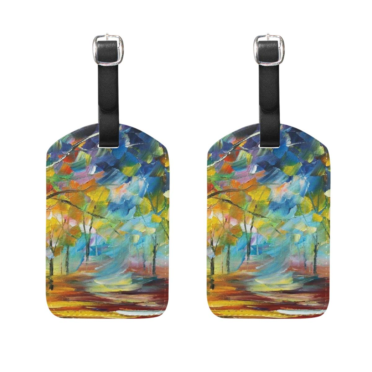 Set of 2 Luggage Tags Fine Art Suitcase Labels Travel Accessories