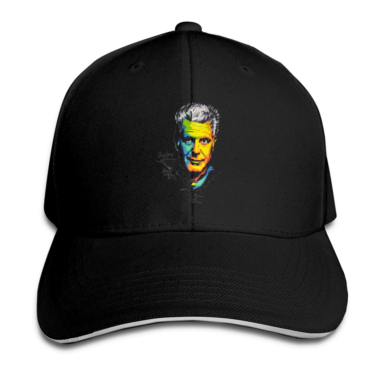 Vintage Anthony Bourdain Adjustable Sports Hats Sun Hat for Men and Women