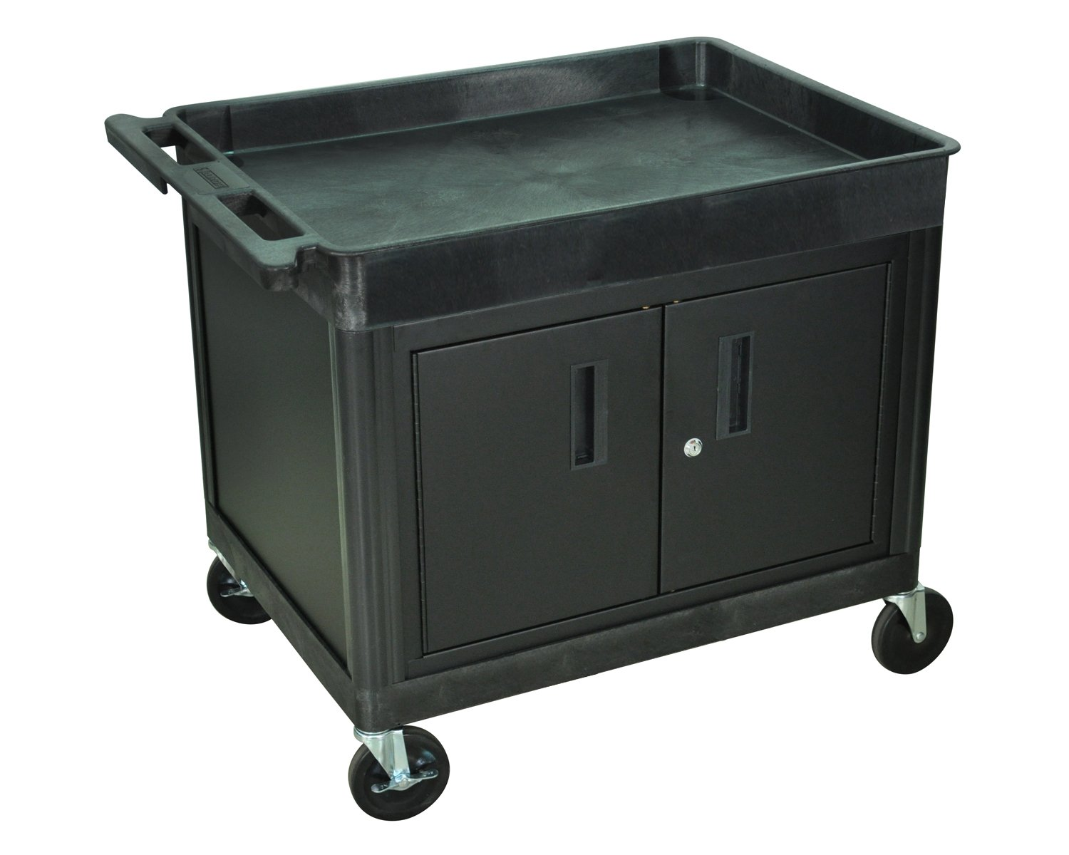 Amazon.com: Luxor Tub Top Shelf Multipurpose Rolling Utility Cart ...