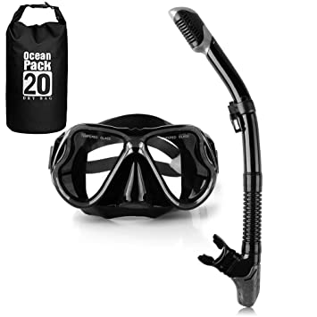 YouPei Máscara de Snorkel, máscara de Buceo, Tubo de respiración Seca, Equipo de