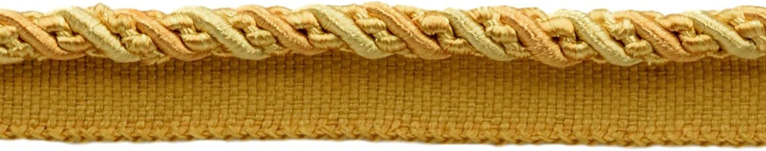 27 Ft // 8 Meters 4875 D/ÉCOPRO 9 Yard Value Pack of Medium 4//16 inch 9 Yard Value Pack of Medium and Light Gold Noblesse Collection Lip Cord Style# 0416H Color: Golden Rays
