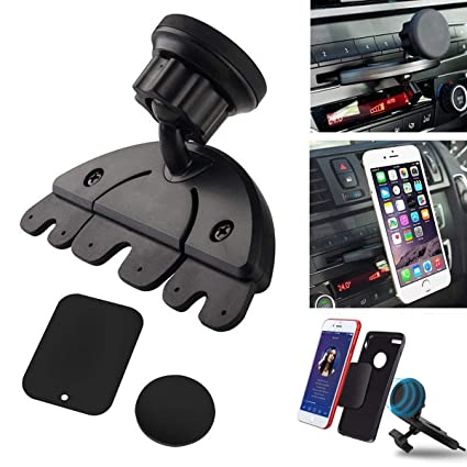 3b4adedf7d5 Image Unavailable. Image not available for. Color  Universal Magnet Car CD  Slot Holder Mount Stand for GPS MP4 5   Tablet Phone New