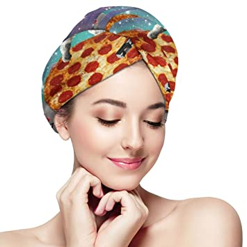 Microfibre Towel Hair Wrap Twist Turban With Loop /& Button