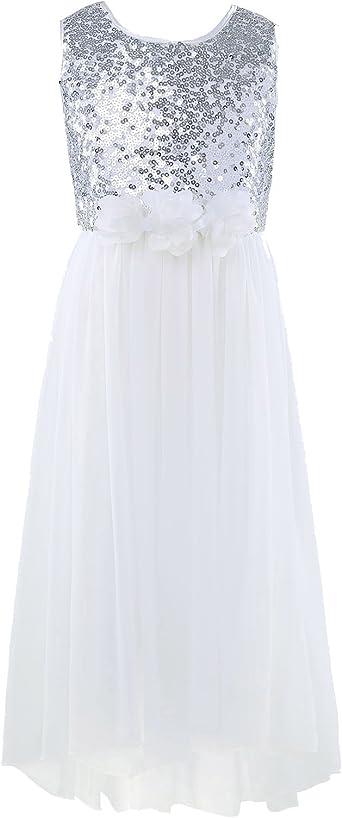 iixpin Fille Robe de Cérémonie Mariage Paillettes