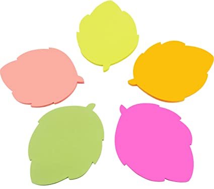 amazon com 4a shapes sticky notes leaf shape 2 83 x 2 83 inches