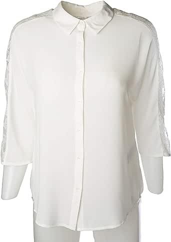 NAF NAF Shirt for Women, Polyester, Off White