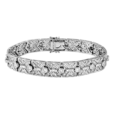 baguette alternating jewelry round bracelet index diamond